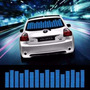 Painel Gráfico Azul Sensor Led Equalizador Rítmico Carro