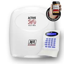 Central De Alarme 20 Zonas Active 20 Ultra + Modulo Ethernet