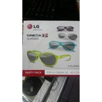 Kit 4 Oculos 3d Passivo Ag-f315 Lg Original Multi Color