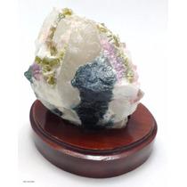 Turmalina Melancia Pedra Natural Excelente Qualidade 319g