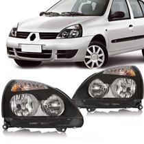 Par Farol Renault Clio 03 04 05 06 07 08 09 10 11 Masc Negra