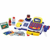 Caixa Registradora Infantil Com Acessórios Azul - Dm Toys