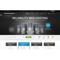Monto Site Completo De Hospedagem, Site+whmcs+planos+config