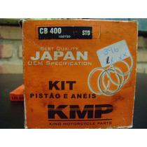 Kit Pistão E Anéis Kmp Honda Cb400 Std