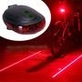 Luz Segurança Laser Acessório Led Traseiro Bicicleta Bike
