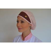 Touca Cirúrgica Estampa Petit Poa Com Marrom - Dra. Cherie