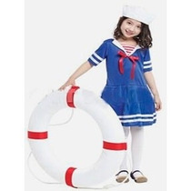 Fantasia Infantil Feminina Marinheira Tam L 1,20 A 1,30