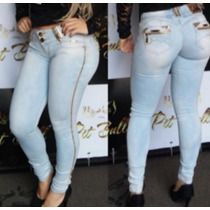 Calça Clara Pit Bull Jeans Modela Bumbum Com Bojo Removível