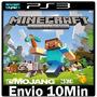 Minecraft Ps3 Play3 Psn ** Jogo Midia Digital -- Portugu