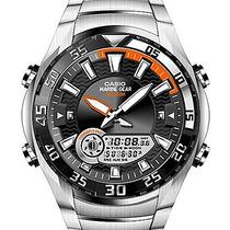Relogio Casio Amw710d-1avdf Marine Gear Graficos Marés