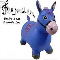 Cavalo De Borracha Pupa Pula Brinquedo Para Criança