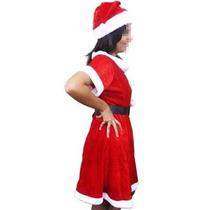 Mamae Noel Roupa De Veludo Para Natal Natlino Com Gorro