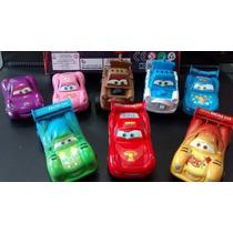 Kit Com 8 Carrinhos Cars Carros Disney Mate Mcqueen Ficção