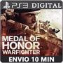Medalha De Honra Warfighter Ps3 Código Psn