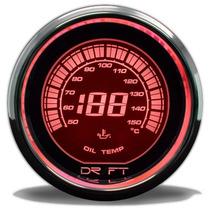 Temperatura De Óleo Iridium Vermelho 52mm (c/ Sensor Elétric
