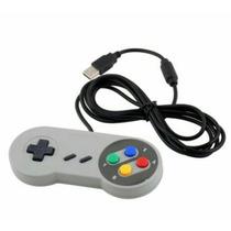 Controle Super Nintendo Snes Novo Saida Usb