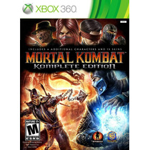 Mortal Kombat 9 Komplete Edition - Jogo Xbox 360 - Em Disco