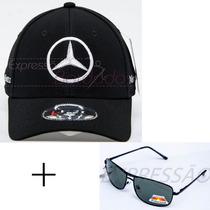 Boné Mercedes Benz + Óculos De Sol Uv400 Polarizado