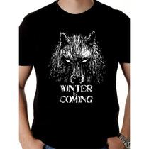 Camiseta Game Of Thrones - Camisa Winter Is Coming, Stark