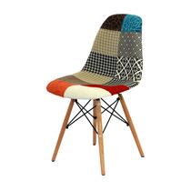 Cadeira Design Charles Eammes Pachwhork Sem Braços