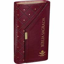 Bíblia Sagrada Feminina Carteira Evangélica Vinho