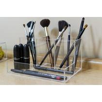 Kit Organizador Maquiagem E Pinceis + Porta Pincel Simples
