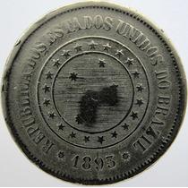 Moeda De 100 Réis De 1893 - Peça Bem Consevada