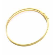 Pulseira Bracelete Feminino Oval Em Ouro 18k-750