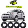 Kit Borracha Da Porta Fiesta Hatch E Sedan 02 Até 13 - 4 Pcs