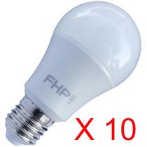 Lâmpada Led Bulbo E27 10w Kit 10 Pç Fhp Led