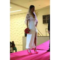 Camisola Longa Para Noivas Com Renda
