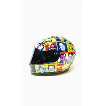 Capacete Agv Gp Tech Faces - Fibra De Carbono