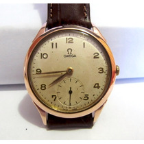 Relógio Omega A Corda Manual De Ouro 18k Antigo Colecionador