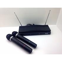 Microfone Sem Fio Duplo Wireless Com Receiver