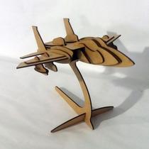 Quebra Cabeça 3d - Coleção Aviões - F15 Mdf
