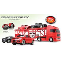 Caminhão Cegonheira Diamond Truck 3 Pick-up C/ Friccão Roma