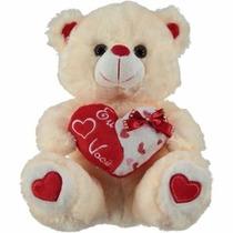 Urso De Pelúcia Coração Grande Amor Eu Te Amo Varias Cores