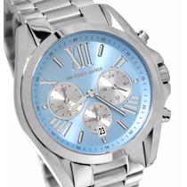 Relógio Michael Kors Mk6099 Azul Prata - Original- Frete