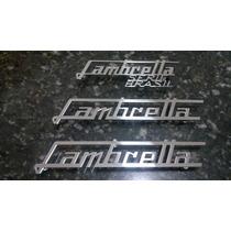 Peça Emblema Lambretta Em Inox (lambreta, Não Vespa)