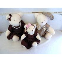 Ursinhos Familia Para Quarto De Bebê Nichos Urso Decoração