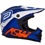 Capacete Asw Image Reedem Azul Motocross Enduro Trilha