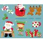 20 Kits Scrapbook Digital Natal Papai Noel Boneco De Neve