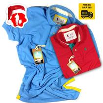 Camisa Camiseta Polo S&f Varias Cores Original + Frete Grati