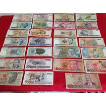 Coleção De Cédulas Antigas De Dinheiro Brasileiro