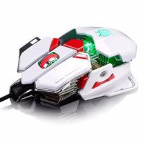 Melhor Mouse Gamer Sword Laser 4000 Dpi Macro 10 Botões -$