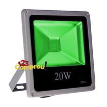 Refletor Led 20w Holofote Verde Ip66 Bivolt - Frete Grátis
