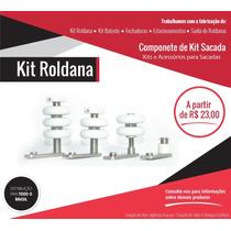Kit Roldana Corpo Inox Para Sacada De Vidro