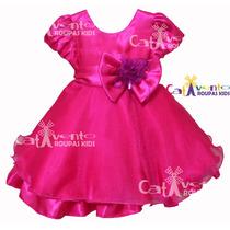 Vestido De Festa Infantil Princesa Com Tiara De Brinde