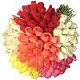 *50 Rosas De Cores Variadas Botões Artificial Flores Botão