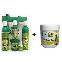 Kit Crece Pelo Boé Com Bolsa 5 Itens + Mas Silicon Mix 450g